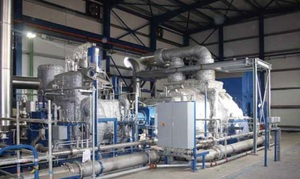 The NAM MARC-R steam turbine with interim heating is used within the turbo generator train of a thermosolar and biomass power plant in Spain.